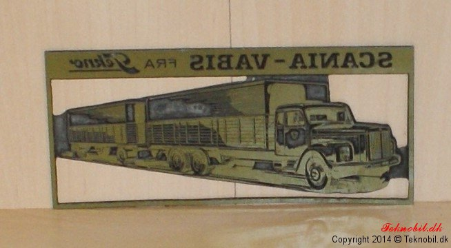 Original Matrice plade Scania Vabis